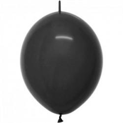 50 ballons fashion solid noir link o loon 15 cm diamètre