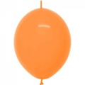 fashion solid orange link o loon 15 cm diamètre SEMPERTEX 15 cm Double Attache Sempertex