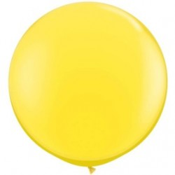 1 ballon jaune opaque 90 cm qualatex