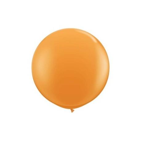 orange opaque 90 cm qualatex à l'unite