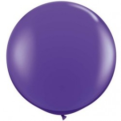 purple violet 90 cm opaque qualatex à l'unite