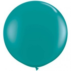 turquoise cristal 90 cm qualatex à l'unite QUALATEX 80 CM A 100 CM DE DIAMETRE