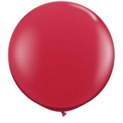 rouge rubis cristal 90 cm qualatex à l'unite