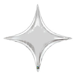 star point argent 100 cm15707 argent starpoint 100 QUALATEX Star Point 40 (100 Cm) Helium Ou Air