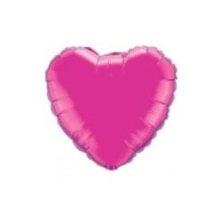 coeur mylar métal fuschia 90 cm