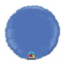 bleu periwinkle mylar rond 45 cm de diamètre QUALATEX Rond 45 cm mylar