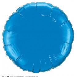 saphire bleu rond mylar métal 90 cm vendu non gonflé12679 QUALATEX Rond Mylar 90 Cm