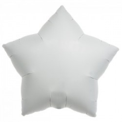 Etoile blanche mylar 55 cm
