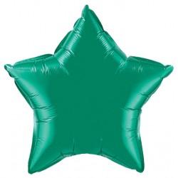 vert emeraude etoile mylar 90 cm non gonflé VERT BALLONS MYLAR DECORATION