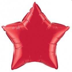 etoile mylar rouge 90 cm non gonflé