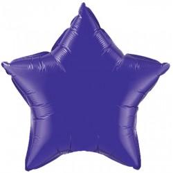 etoile mylar violet quartz purple 90 cm non gonflé VIOLET BALLONS MYLAR DECORATION