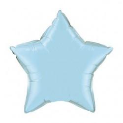 Etoile perlé bleu ciel mylar 90 cm non gonflé BLEU CLAIRE BALLONS MYLAR DECORATION