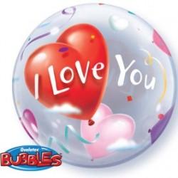 bubble i love you 56 cm de diamètre 1771_871390176 QUALATEX Amour Et Saint Valentin