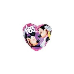 I love you mickey ballon mylar 45 cm non gonflé