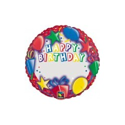 happy birthday ballon mylar 45 cm non gonflé