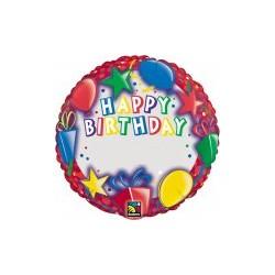 happy birthday ballon mylar 45 cm non gonflé Ballons Ø Personaliser Avec Lettres Stickers