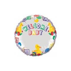 Welcome baby à personnaliser ballon mylar 45 cm non gonflé