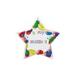 etoile happy birthday à personnaliser ballon mylar 90 cm non gonflé