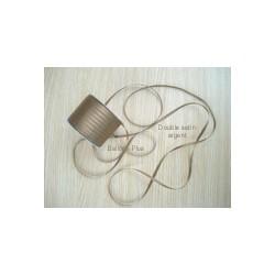 ruban double satin argent par 10 m largeur 6mm