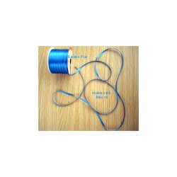 ruban double satin 6 mm bleu roi par 10 m