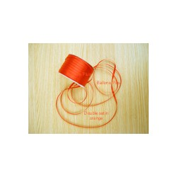 ruban double satin 6 mm orange par 10 m