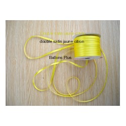 ruban double satin 6 mm jaune par 10 m