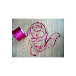 ruban double satin 6 mm fuschia par 10 m