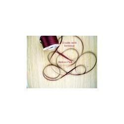 ruban double satin 6 mm bordeau par 10 m