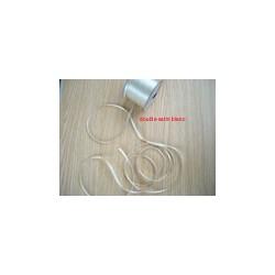 ruban double satin 6 mm blanc par 10 m