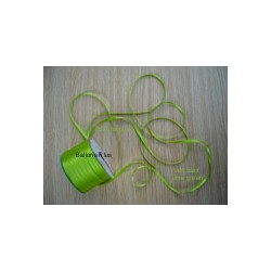 ruban double satin 6 mm vert limette par 10 m