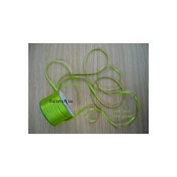 ruban double satin 6 mm vert limette par 10 m