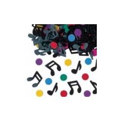 confettis metal musiques notes