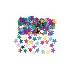 confettis metal étoiles multicouleurs 14grs