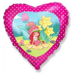 charlotte aux fraises coeur 45 cm non gonflé