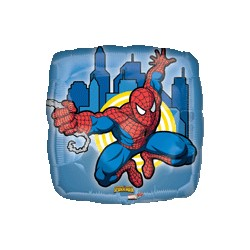 spiderman ballon mylar carré 45 cm à plat