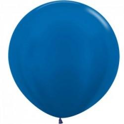 Sempertex bleu metal perlé 540 en 90 cm