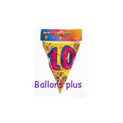 Guirlande fanions plastique 10 ans Ballons