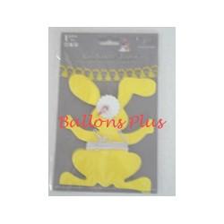 guirlande lapins jaune 4m