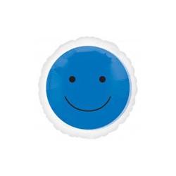 smile bleu ballon mylar 45 cm à plat