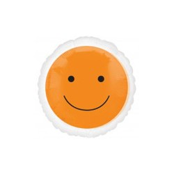 smile orange ballon mylar 45 cm à plat
