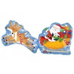Le Père Noël renes et traineau18399 AMSCAN Noël