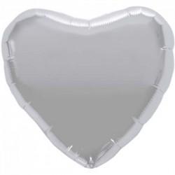 ballon mylar métal coeur argent NS00749 nscoeurargent18p1 NORTHSTAR Coeur Ballons Mylar 45 Cm