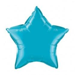 étoile turquoise qualatex 50 cm