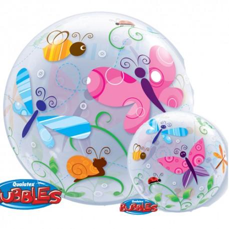 bubble imprimé papillons et insecte