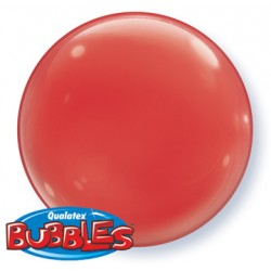 bubble couleur rouge QUALATEX Les Bubbles Couleurs