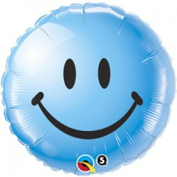 Smile bleu qualatex 45 cm à plat29638 QUALATEX Smile