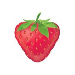 fraise ballons mylar 45 cm à plat