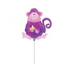 singe avec coupelle et tige ballon mylar