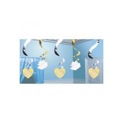 cloches et coeurs suspensions verticales Suspensions Decorations