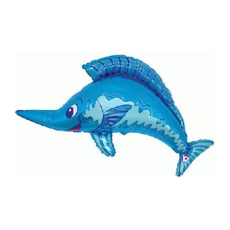 marlin bleu 90 cm à plat